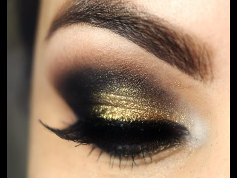 Date Night Gold and Brown Smokey Makeup Tutorial
