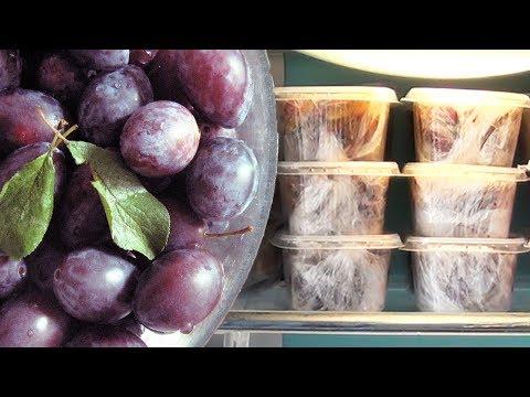 Как заморозить сливу на зиму. Заготовки для пирогов, каши | Анна Чижова