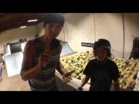 Lil Pros BMX Tour: Learning Flairs with 12 Year Old Victor Peraza at The Factory 2.0