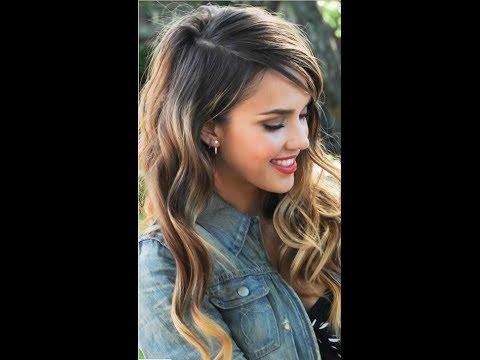 Jessica Alba Curls - Hair Tutorial - YouTube