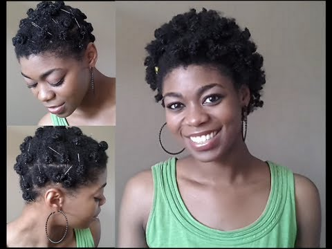 4C Natural Hair Wet Bantu Knot Out Attempt NaturalMe4C