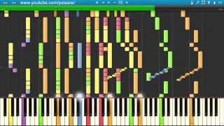 Doctor Who Main Theme (Synthesia) [Piano Tutorial] [HD]