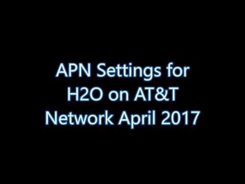 H2O wireless APN Settings for AT&T Network android nougat 7 MVNO April 2017 Data LTE 4G Working!