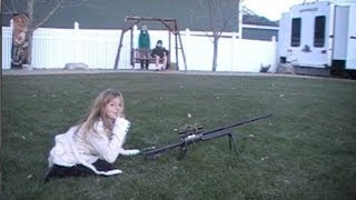 Sister shoots her brother with airsoft Gun!!!