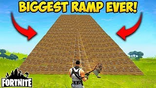BIGGEST RAMP EVER MADE! - Fortnite Funny Fails and WTF Moments! #28 (Daily Fortnite Funny Moments)