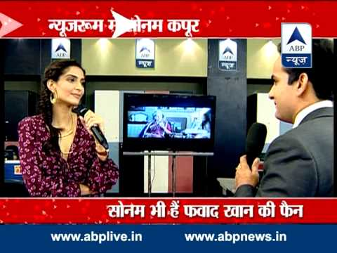Sonam Kapoor promotes upcoming flick 'Khoobsurat' in ABP Newsroom