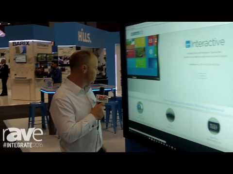 Integrate 2016: CommBOX Demos 4K 103-Inch Optical Touch Screen