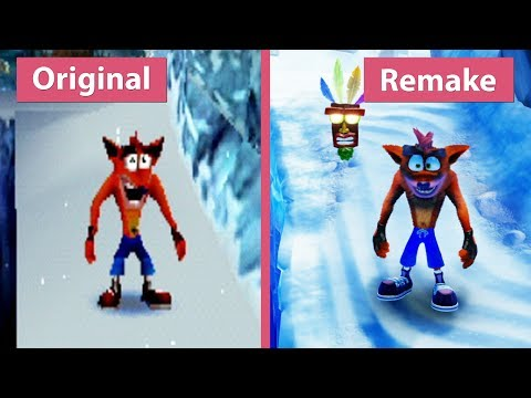 Crash Bandicoot 2 – Original (1997) vs. N. Sane Trilogy (2017) Remake PS4 Pro Graphics Comparison