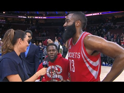 Kevin Hart Crashes James Harden S Postgame Interview 01 27