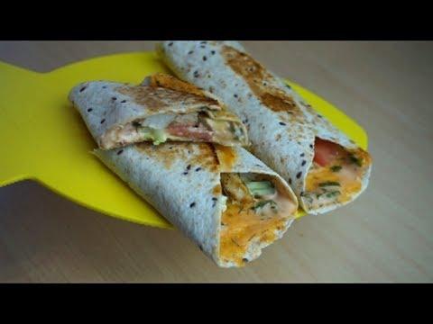 Рецепт Тортилья- Ролл с курицей! Из лепешек из фикс прайс.