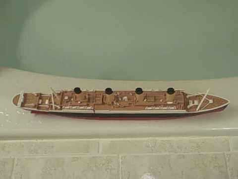 Titanic Model Sinking ( 2 Versions of Sinking )