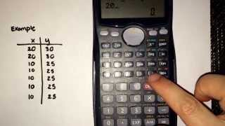Tips on entering data into the Calculator (Casio fx-991MS)