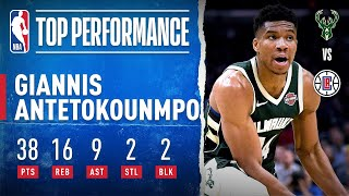 Giannis Fills Up The Stat Sheet