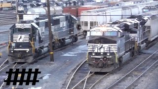 Sunrise in Altoona: 1 Hour Long Video of Norfolk Southern Trains Near Rose Yard & Altoona Station