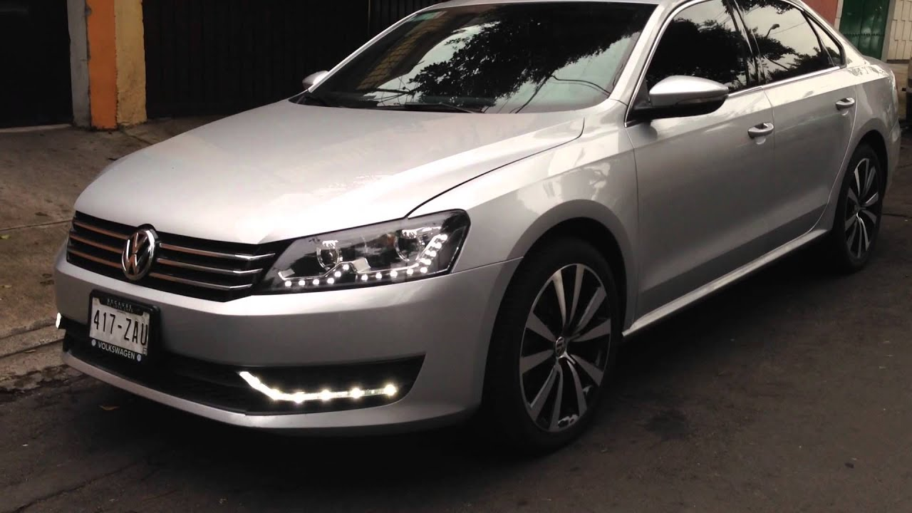 PASSAT 2012-2013 DRL LEDS - YouTube