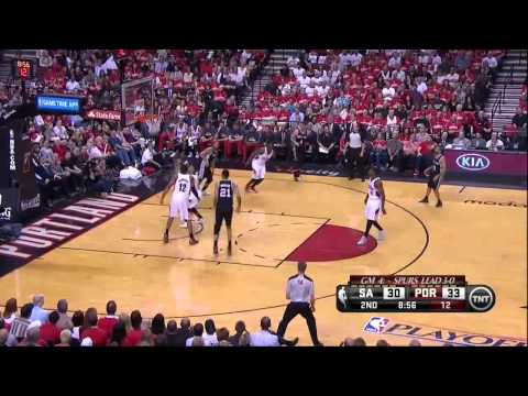 NBA, playoff 2014, Spurs vs. Trail Blazers, Round 2, Game 4, Move 17, Marco Belinelli, 2 pointer