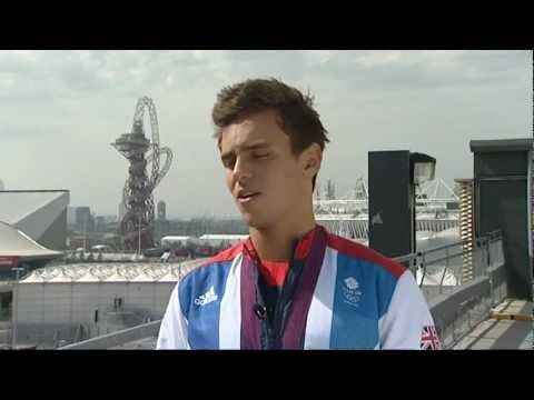 Tom Daley (ESFP Example) on Medal in Diving at London 2012 Olympics