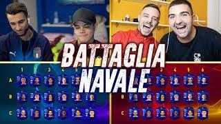 BATTAGLIA NAVALE con la CHAMPIONS LEAGUE! INDOVINA IL CALCIATORE CHALLENGE w/FIUS GAMER, ENRY & TATI