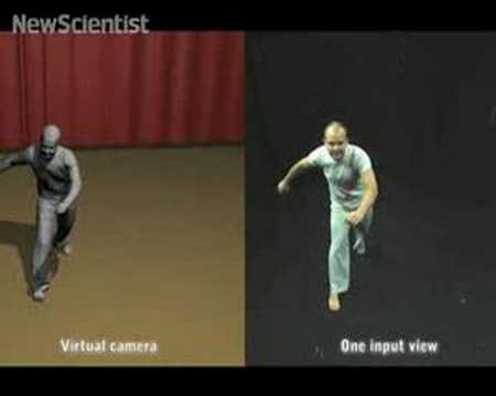 Motion-capture without the markers Video