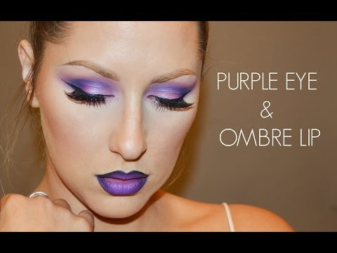 Purple eyes + Ombre Lip!