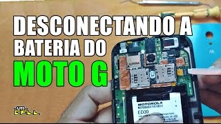 Desconectando a bateria do Moto G (2ª Geração)