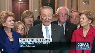 """""""We Need To Clean Up Washington In A Real Way!"""" Senate Democrats Hold Press Conference"""