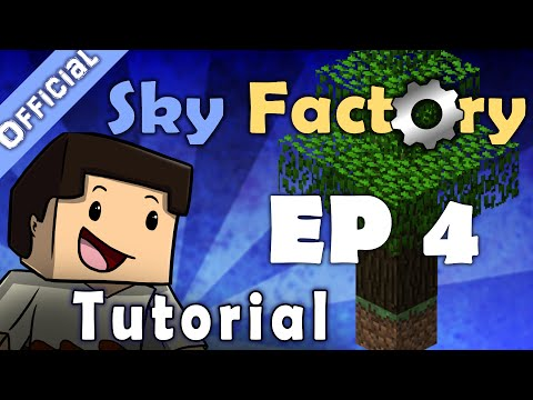 Minecraft Sky Factory Official Tutorial 4 - Mob Farm and Automatic Cobblestone Generator