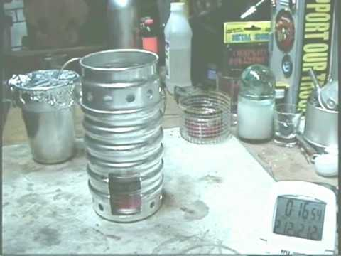 Swiss Ranger Volcano Stove using Sterno