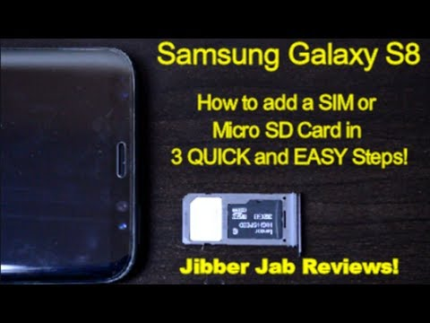 Samsung Galaxy S8 - How to add a SIM or Micro SD Card in 3 QUICK & EASY STEPS! - Jibber Jab Reviews!