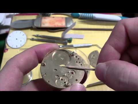 How I clean a pocket watch or wrist watch. Waltham