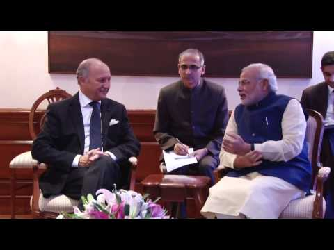 French Foreign Minister calls on PM Narendra Modi