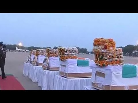The bodies of the soldiers killed in Poonch arrive in New Delhi