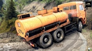 SPINTIRES 2014 - The Hill Map - Kamaz Fuel Cistern Removing the 3rd Cloacking