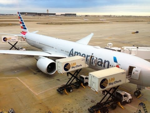 American Airlines New Boeing 777-300ER (77W) Business Classs AA963 DFW-GRU 1080p HD