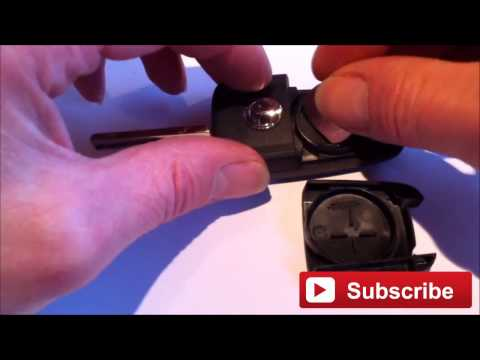 How To Change The Battery On Vauxhall Opel Flip Key fob. New Battery Replacement