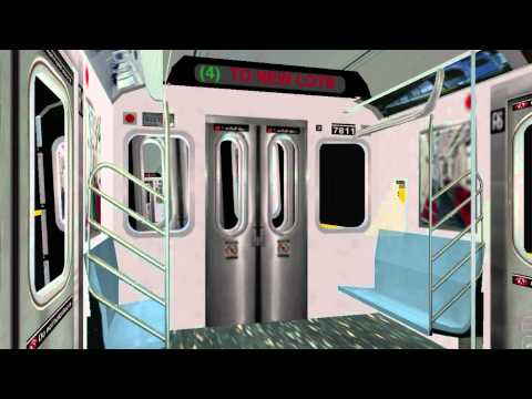OpenBVE BVE Trainsim - NYCT R142 R142A (4) Subway Train New Lots - subway Simulator mta