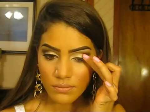 Tutorial: Brown and Gold Makeup Look