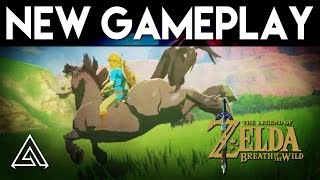 Zelda Breath of the Wild | NEW Gameplay Beyond the Plateau + Horses! (Nintendo Switch)