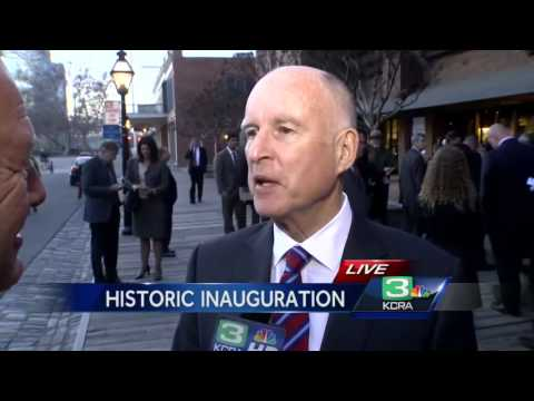 Governor Jerry Brown sworn in for historic fourth term