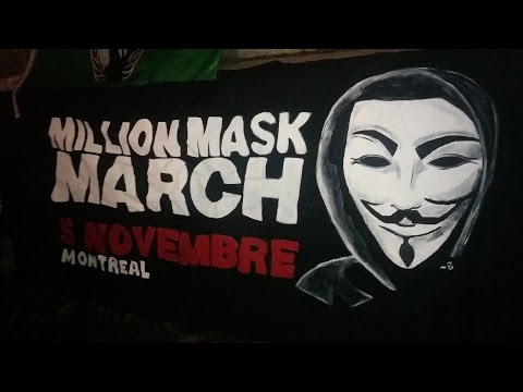 REPLAY: Million Mask March 2015 Montreal