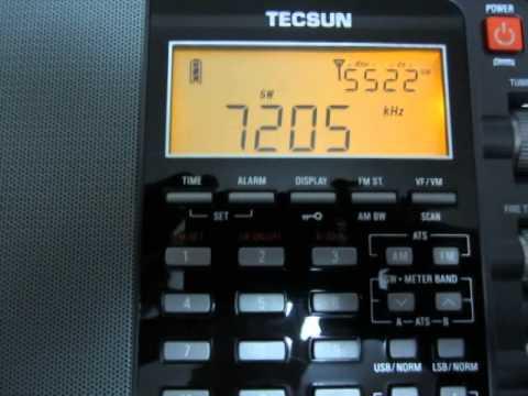TECSUN PL-880 7205kHz Sudan Radio