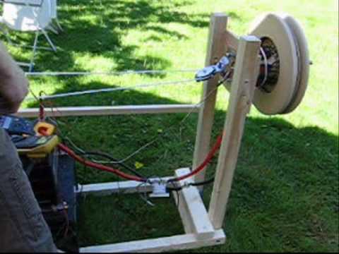DIY electric motor 7kW test run.