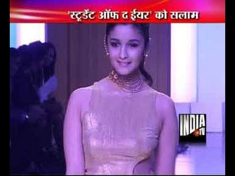 Alia Bhatt sizzles at the grand finale of India Bridal Fashion Week 2013