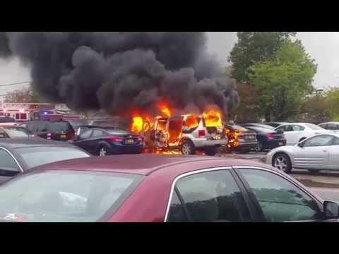 Nassau Community College Car Fire 10/22/14