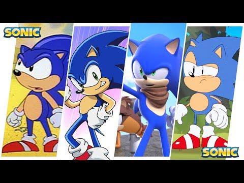 Sonic the Hedgehog Evolution in Cartoons, Movies & TV (2018)
