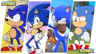 Sonic the Hedgehog Evolution in Cartoons, Movies & TV (2018)