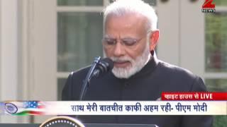 Watch: PM Narendra Modi addresses media at Rose Garden in White House