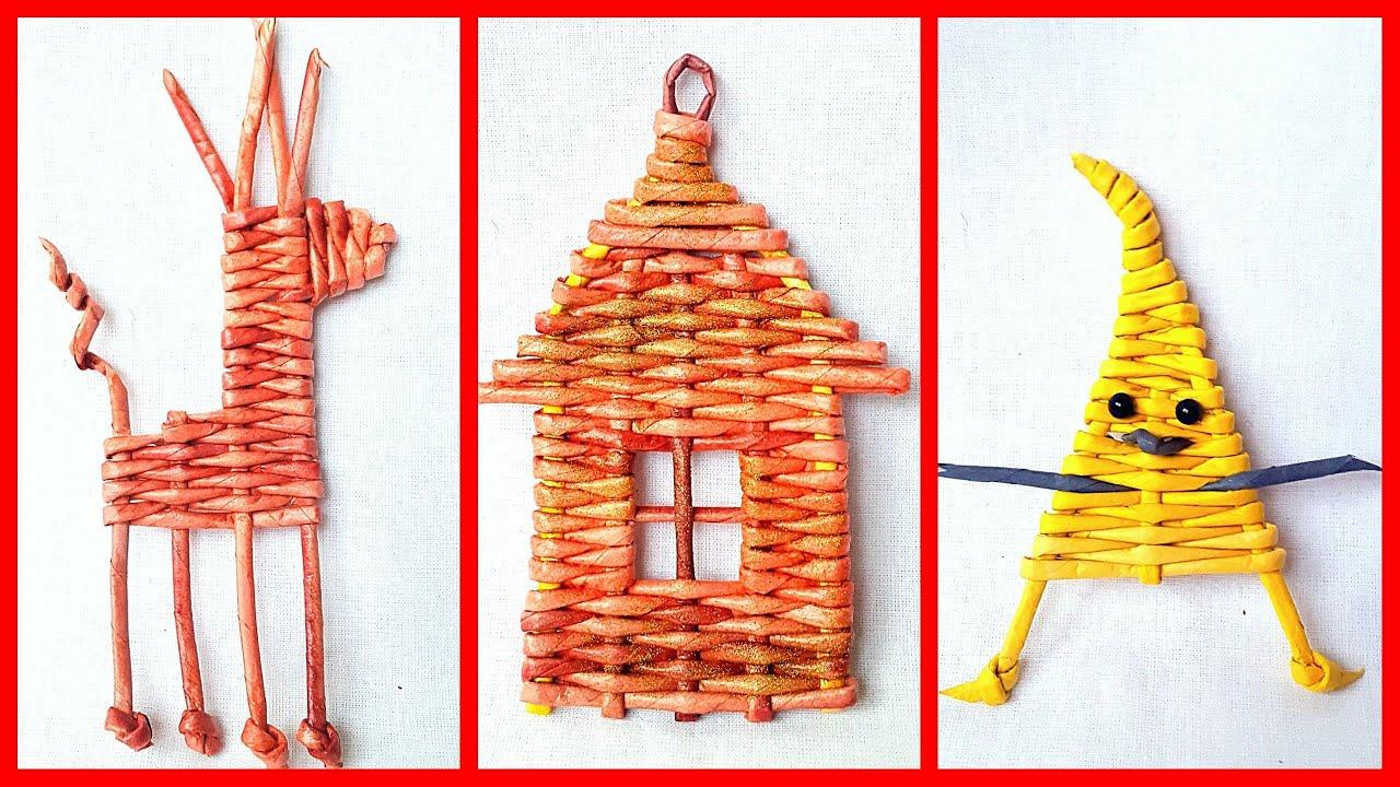 Игрушки из бумажных трубочек своими руками 7