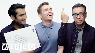 Dave Franco, Kumail Nanjiani and Fred Armisen Answer the Web's Most Searched Questions | WIRED