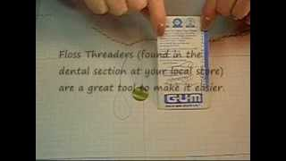 Floss Threaders and Buttons
